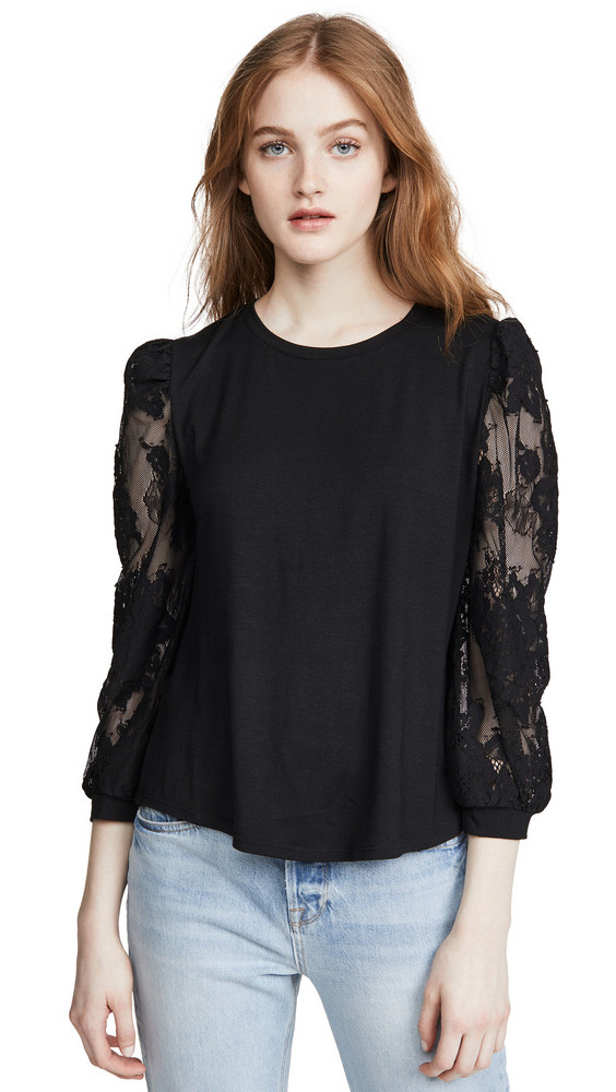 Generation Love Amiyah Lace Tee in black