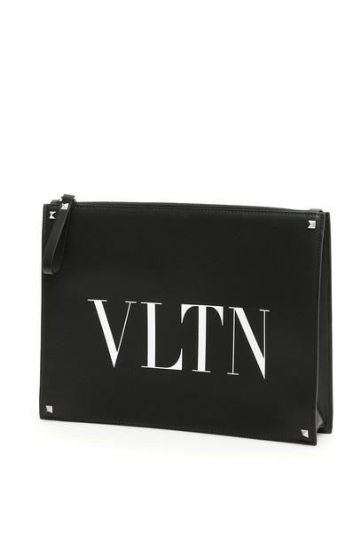 Valentino Vltn Clutch in nero / bianco