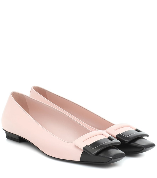 Roger Vivier Belle Vivier leather ballet flats