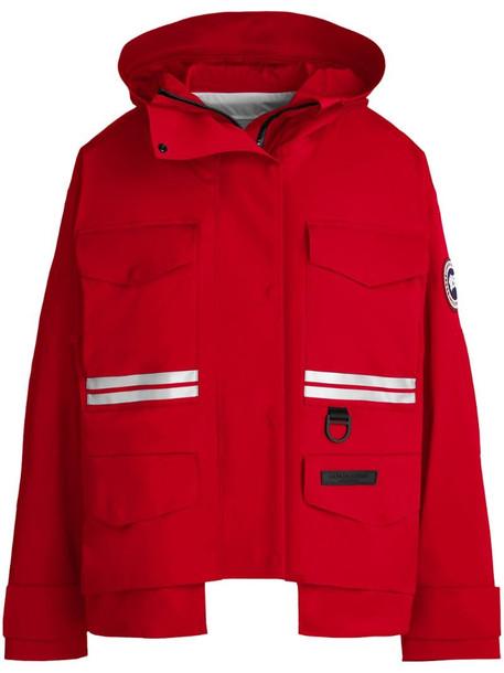 Canada Goose x Angel Chen Mordaga rain jacket in red