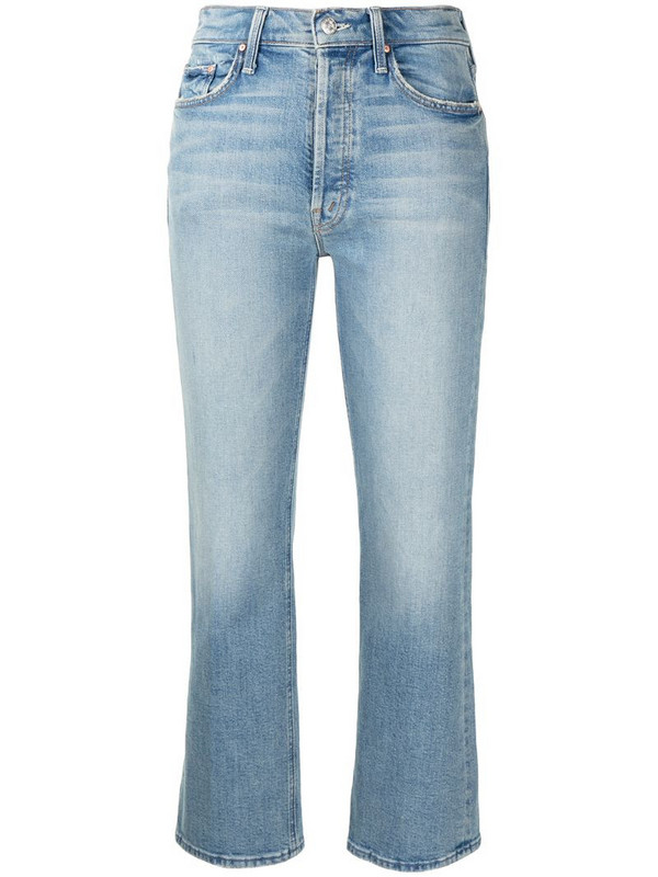 MOTHER Tripper cropped jeans in blue