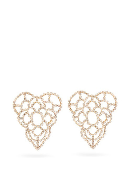 Rosantica - Spiga Crystal Heart Earrings - Womens - Crystal