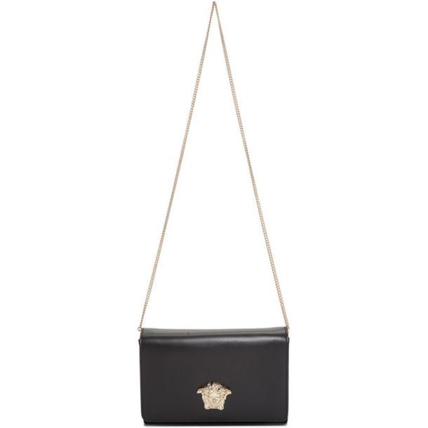 Versace Black and Gold Medusa Head Evening Clutch