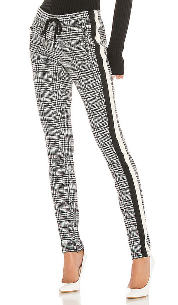 Pam & Gela Glen Tart Cigarette Pant in Gray