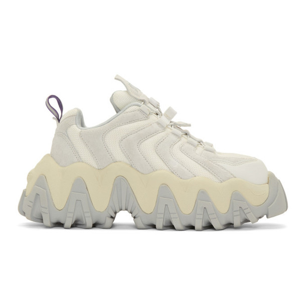 Eytys Off-White Suede Halo Sneakers