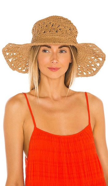 Seafolly Daisy Chain Hat in Brown in natural