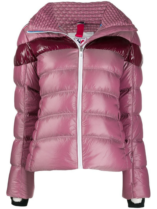 Rossignol contrast stripe ski jacket in pink