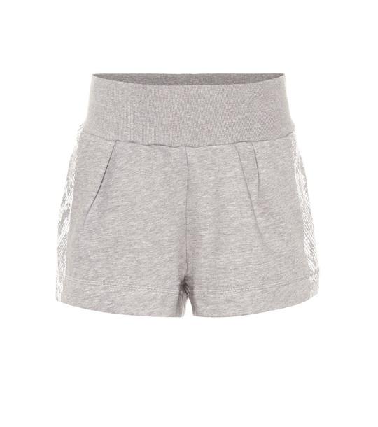 Adidas by Stella McCartney Cotton-blend shorts in grey