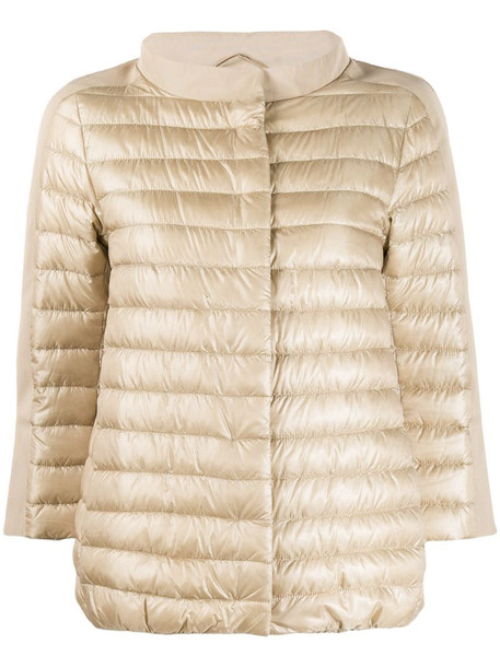 Herno puffer jacket in neutrals