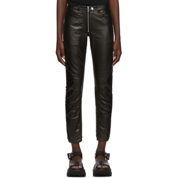 Marcelo Burlon County of Milan Black Shiny Biker Trousers