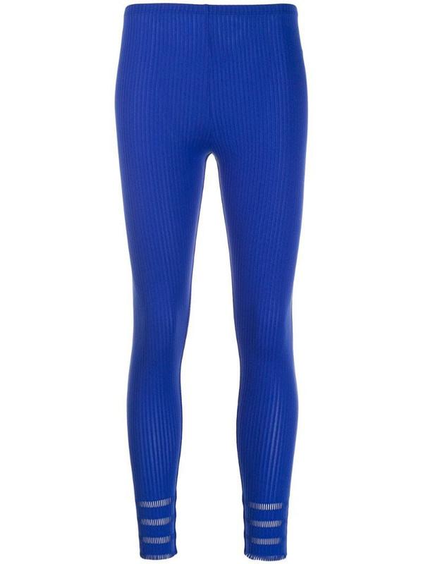 Issey Miyake Pre-Owned 2000's ribbed leggings in blue