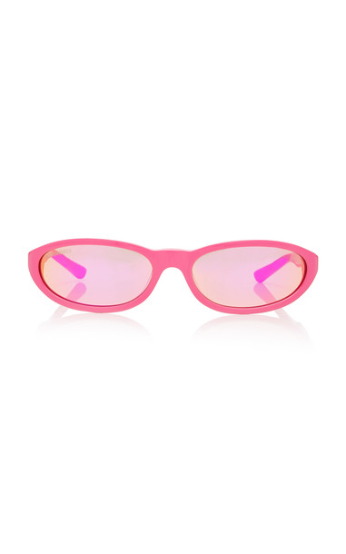 Balenciaga Round-Frame Acetate Sunglasses in pink