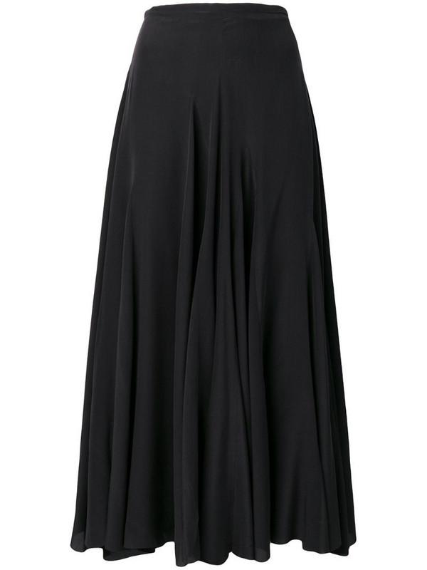 Haider Ackermann Sophora godet skirt in black