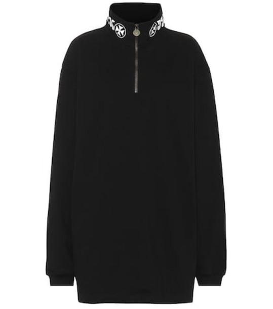 Vetements Embroidered cotton sweatshirt in black