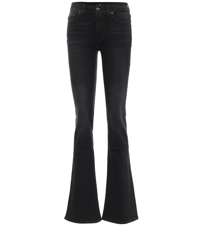 7 For All Mankind Mid-rise bootcut jeans in black