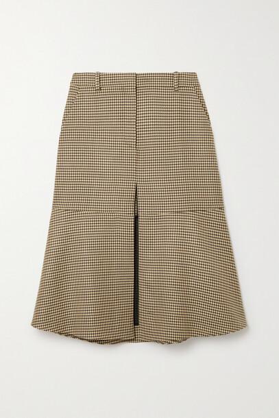 Stella McCartney - Naomi Houndstooth Wool Midi Skirt - Neutrals