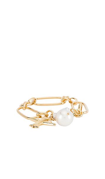 joolz by Martha Calvo Jetsetter Bracelet in Metallic Gold