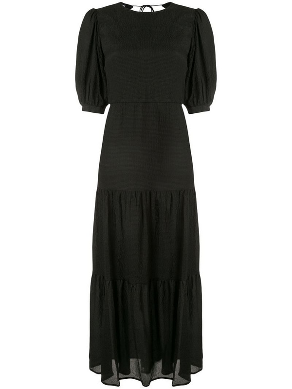 Sir. Indre open back midi dress in black