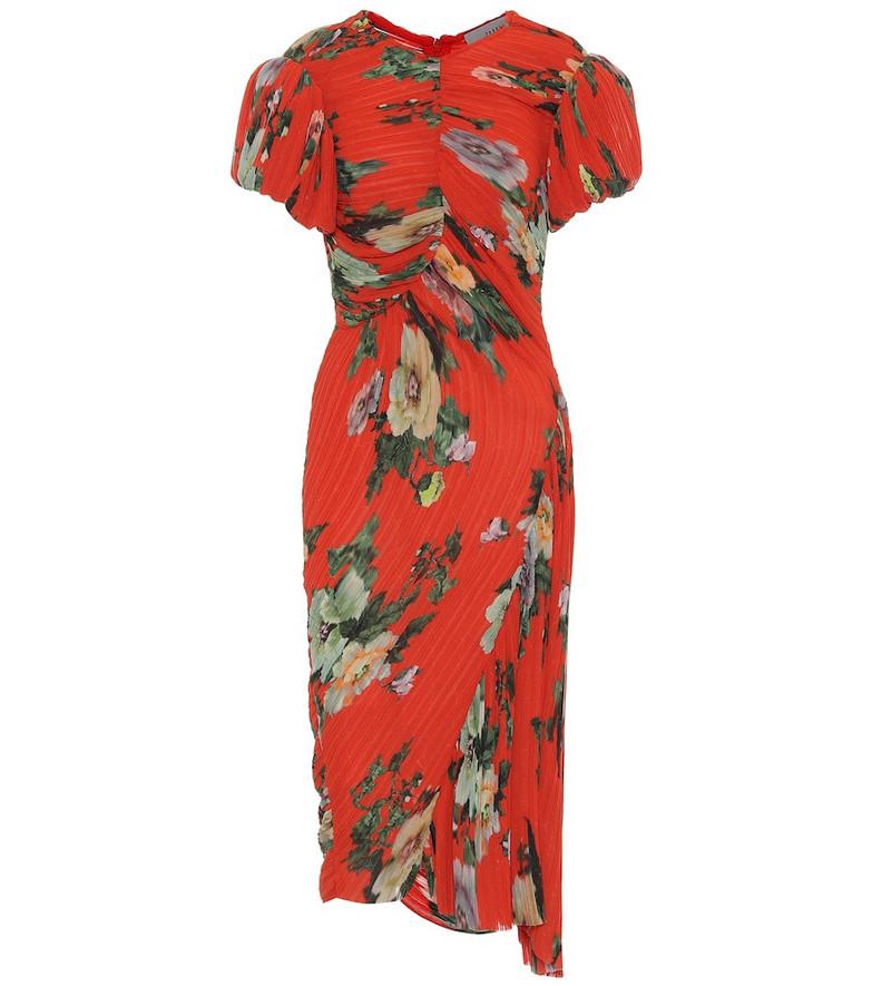 Preen by Thornton Bregazzi Meggy georgette midi dress in red