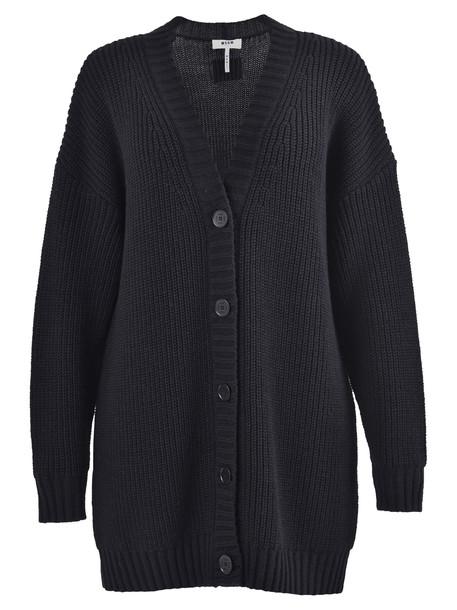 MSGM Oversized Cardigan in black