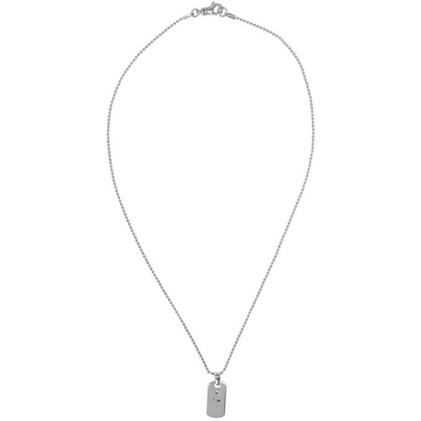 Martine Ali Silver Small Dogtag Necklace