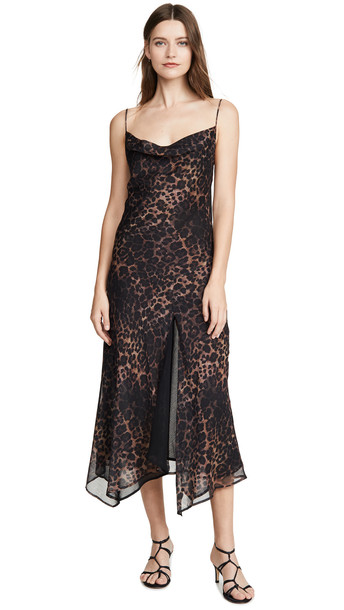 Misha Collection Johanna Dress in leopard