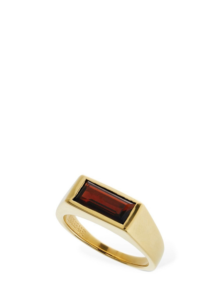 MARIA BLACK Harald Signet Ring in gold / red