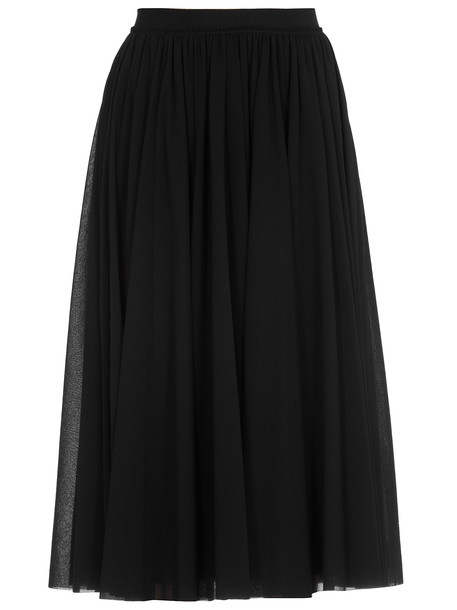 Jil Sander Drapings Skirt in black