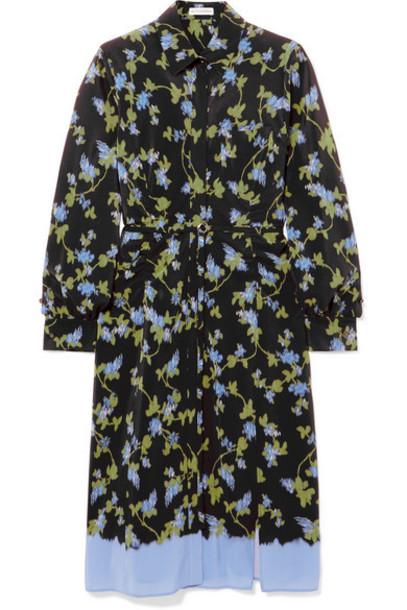 Altuzarra - Strada Floral-print Silk Crepe De Chine Dress - Black
