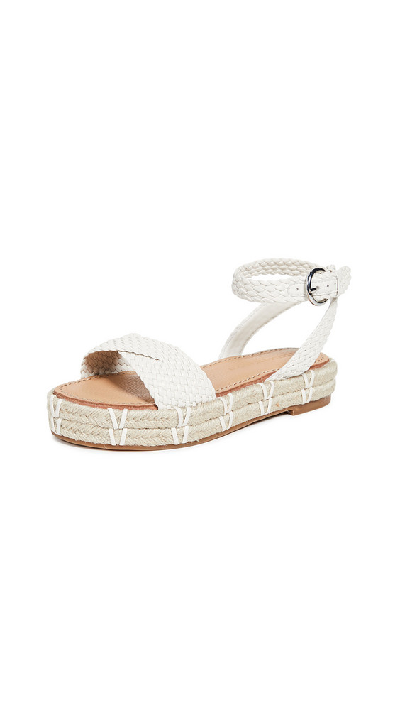 Sigerson Morrison Jaiyce Braided Sandals in cream