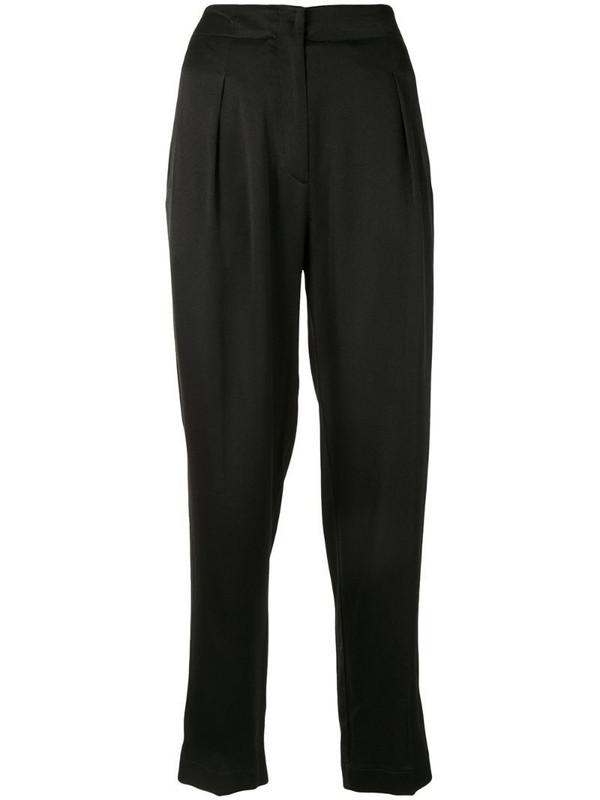 Forte Forte cropped straight leg trousers in black