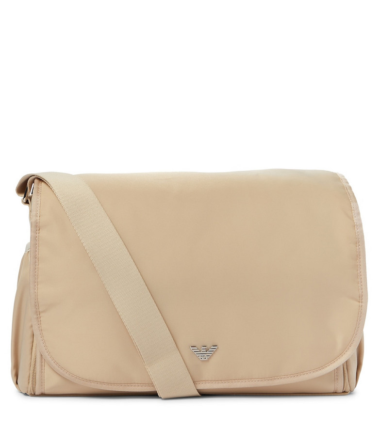 Emporio Armani Kids Baby changing bag in beige