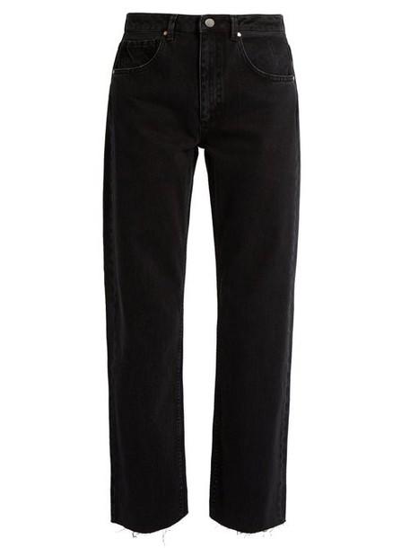 Raey - Press Straight Leg Jeans - Womens - Black