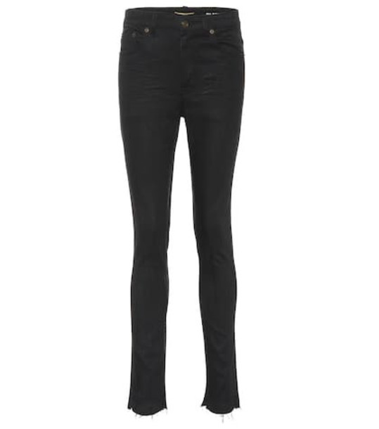 Saint Laurent High-rise skinny jeans in black