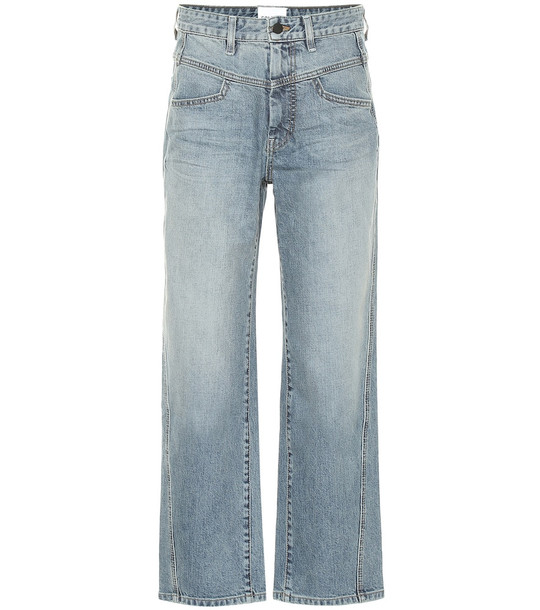 COLOVOS High-rise straight-leg jeans in blue