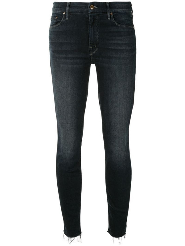 Mother mid-rise skinny jeans in blue