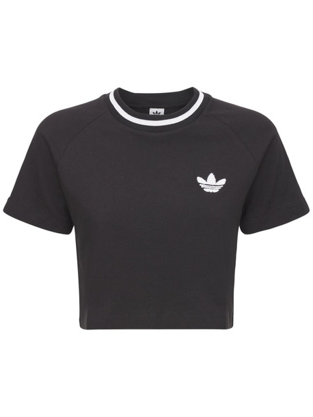 ADIDAS ORIGINALS Cropped T-shirt in black