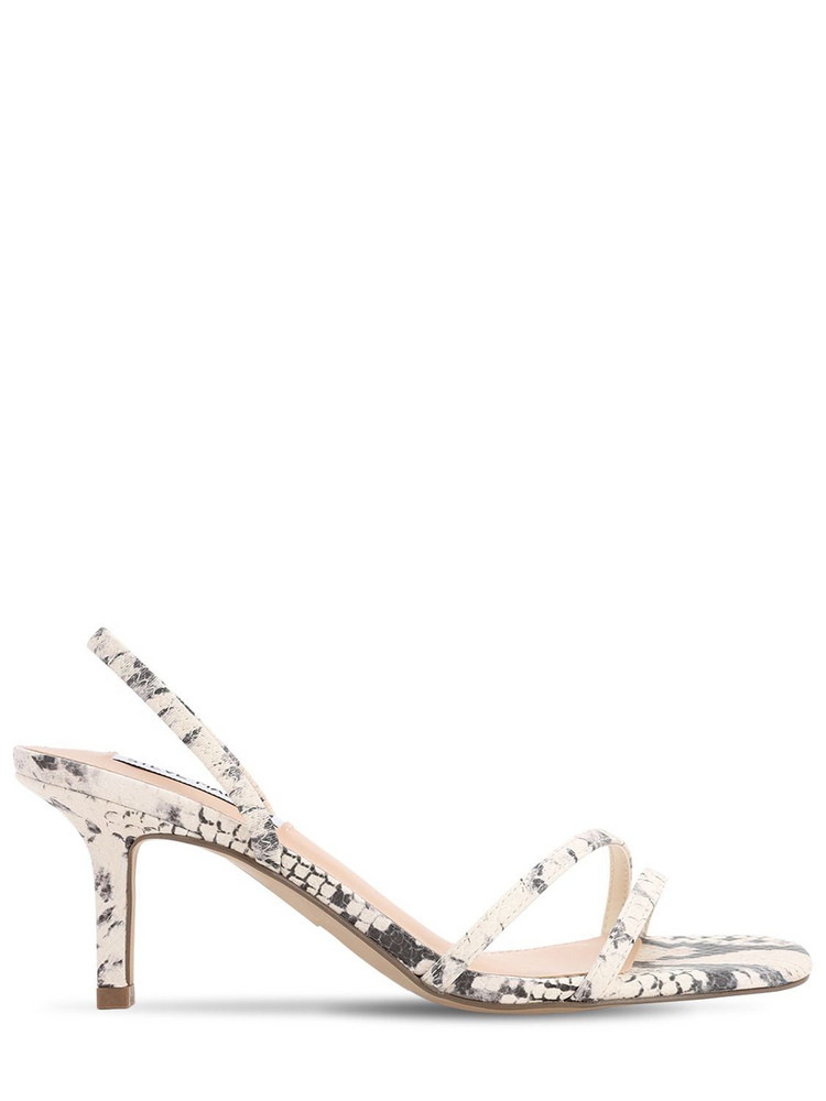 STEVE MADDEN 70mm Python Print Faux Leather Sandals in beige