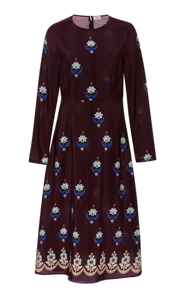 Warm Poppy Printed Dress in print
