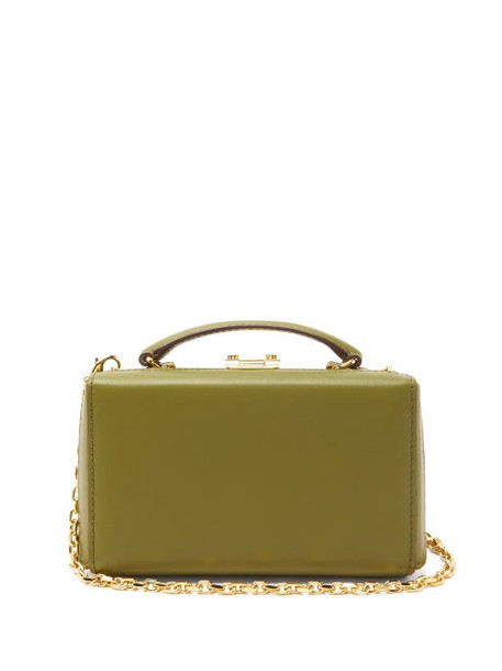 Mark Cross - Grace Small Gold-plated Leather Belt Bag - Womens - Khaki