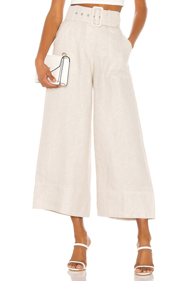 Shona Joy Hamilton Belted Culotte in taupe