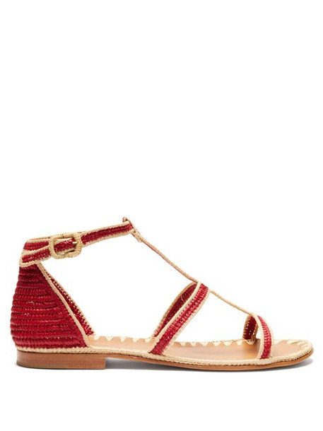 Carrie Forbes - Tama Raffia Sandals - Womens - Red Multi