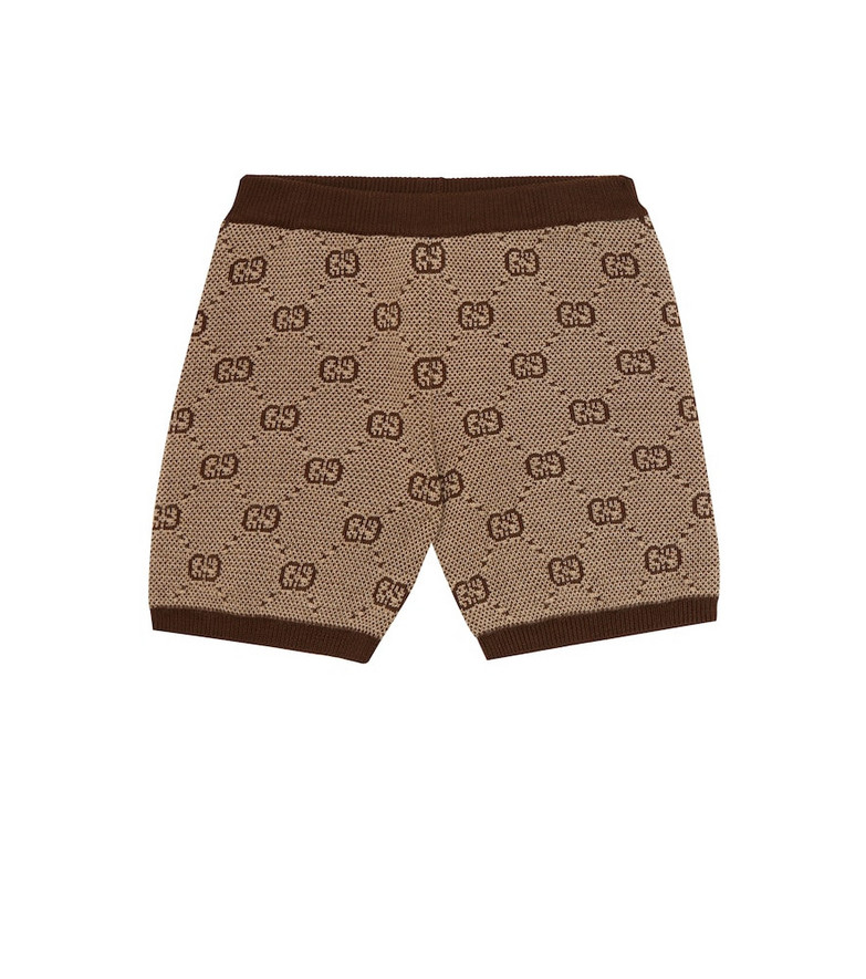 Gucci Kids Baby wool and cotton shorts in beige