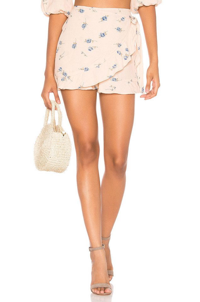 Blue Life Rosie Ruffle Wrap Short in pink