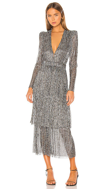 Sabina Musayev Carry Dress in Metallic Silver