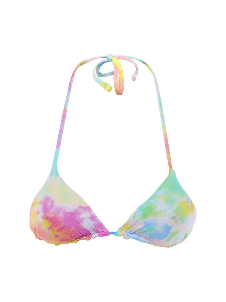 MC2 SAINT BARTH Zoe Tie Dye Lycra Bikini Top