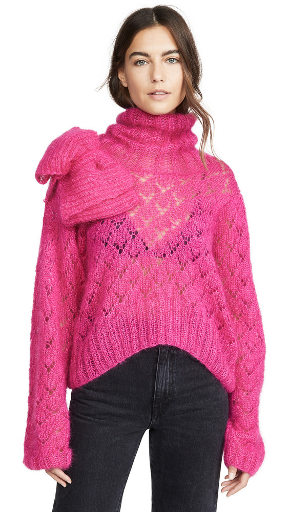 Michaela Buerger Rollneck Mohair Sweater in pink