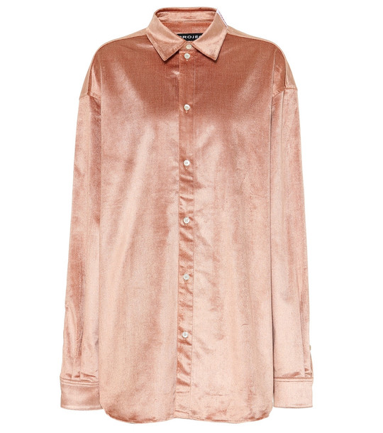 Y/PROJECT Velvet blouse in pink
