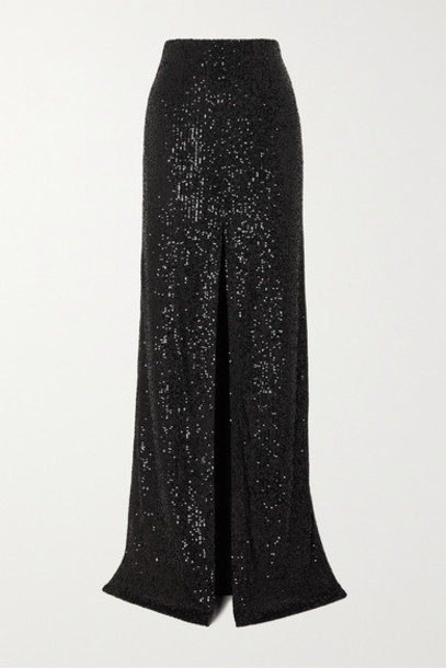 Galvan - Modern Love Sequined Tulle Maxi Skirt - Black