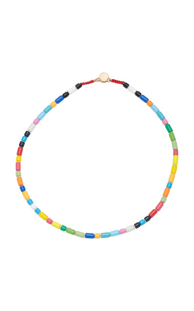 Roxanne Assoulin Starburst Beaded Cord Necklace in gold